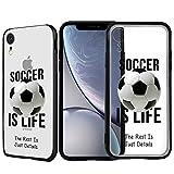 Inkmodo Schutzhülle für iPhone XR, TPU, Motiv Soccer is Life, für Mädchen und Teenager