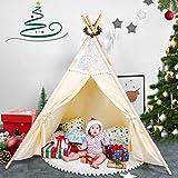 besrey Spielzelt Tipi Zelt für Kinder aus 100% Baumwolle Kinderzelt Indianerzelt mit...