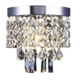 Kronleuchter Kristall AFSEMOS,Moderne Stil Anhänger Crystal Hängeleuchte Mit Elegantem...