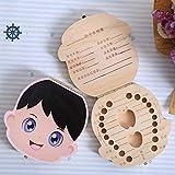 plplmy Baby Zähne Andenken Boxen, Zahn Box, Baby Zähne Box Milch Zähne Sparen Organizer Kit,...