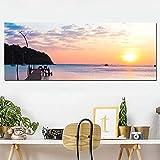 ganlanshu Natrlicher Sonnenuntergang Poster Leinwanddruck Wandmalerei Wohnzimmer Bro Dekoration...