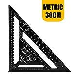 H HOMEWINS 30 CM Metrisch Professionell Dreieck-Winkelmesser Aluminiumlegierung Dreieck Lineal...