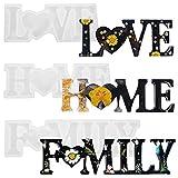 adakel 3 Stück Epoxidharz Formen, Love Home Family Epoxidharz Silikonform für Handwerk DIY...