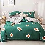 GAOXUE Bettbezug aus Baumwolle,Baumwollbettwscheset, gebrsteter Mdchenbettbezug, Jungenbettwsche und...