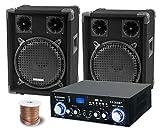 McGrey PA Komplettset DJ Anlage PowerDJ-1200 (System mit Partyboxen, Lautsprecher, 2 x 400 Watt,...