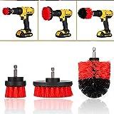 N\A 3pcs / Set Drill Scrubber Pinsel Car Kit Detaillierung Tile Grout Reiniger Scrubber...