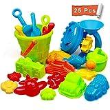 StillCool Strand Sandspielzeug Set mit Strandtasche Mesh,25 Stück Strandspielzeug für Familie...