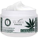 Victoria Beauty - Hanfcreme - Cannabis Nachtcreme - Anti-Aging Augencreme gegen Falten und dunkle...