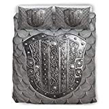 chvcodd Set Retro 3-teiliges Kissen Armor War Soft Kategories Europäisches Muster Grau Farbe...