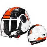 Mdsfe Jet Motorradhelm 3/4 offenes Sommerhalbgesicht Motorradhelm Capacete Casco Jet Roller Helm...