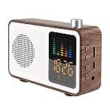 LYXMY Bluetooth Lautsprecher Mehrzweck Dekoration Schlafzimmer Digital Fm Radio USB Lade- Retro...