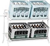 Schulte Regalwelt Getränkekistenregal, Kistenständer und Getränkeregal für bis zu 6...