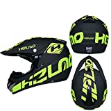 Mdder Motorradhelm Männer und Frauen Full Face Downhill Cross-Country-Helm DH Fahrrad Cross-Helm...