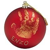 Baby Art Christbaumkugel mit Handabdruck, 0M+, 10cm, My Christmas Fairy, rot