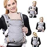 SaponinTree Ergonomische Babytrage, Reine Baumwolle Babytrage Rücken, Kindertrage für Neugeborene...
