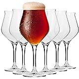 Krosno Bier-Tulpen Bier-Gläser | Probierglas | Set von 6 | 420 ML | Avant-Garde Kollektion |...