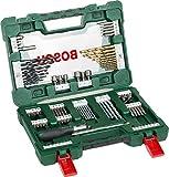 Bosch 91tlg. Bohrer- und Bit Set V-Line Box (Holz, Stein und Metall, Zubehör für Bohr- und...