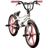 deTOX BMX 20 Zoll Rude Skyway Freestyle Bike Street Park Fahrrad viele Farben (weiß/pink)