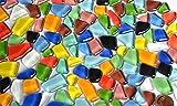 300g Soft Glas-Mosaiksteine unregelmig (Polygonal) bunt, nicht lichtdurchlssig ca.170 St.