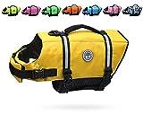 Vivaglory Rettungsweste für Hunde, Größe verstellbar, reflektierend, Gelb, Größe XS
