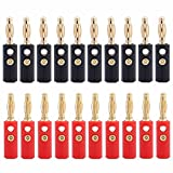 Tenglang 20Pcs / lot 4mm vergoldeter Lautsprecher Bananenstecker Horn Lautsprecher Bananenstecker...