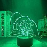 3D kreatives Nachtlicht Anime blau Exorzist Mephisto Pheles für Schlafzimmer dekoratives Nachtlicht...