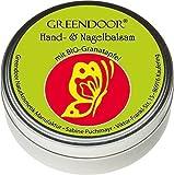 Greendoor Handbalsam Handcreme ideal für sehr trockene Haut mit BIO Granatapfel, Naturkosmetik,...