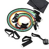 JASZW Widerstandsbänder Set, Pull Rope Fitnessübungen Widerstandsbänder Latexschläuche Pedal...