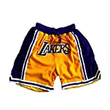 SPORTS Herren Jersey Lakers James Basketball Hose # 23 Herren Shorts Gelb Stickerei...