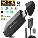 Gifort Wireless WiFi Display 4K HD 2.4G 5G Adapter HDMI, Drahtlos Mini Anzeigeempfnger teilen 4K HD...