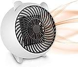 Heizlüfter Energiesparend, Heizlüfter Keramik Mini Elektroheizer 250W, 3s Schnellheitzer mit...