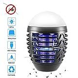 ZOTO Insektenvernichter Elektrisch, 2-In-1 Mckenlampe Campinglampe mit 2200mAh USB Wiederaufladbarer...