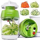 ELIRIVAWET Neueres Modell 5 in1 Spiralschneider Hand für Gemüsespaghetti, Gemüse Spiralschneider...
