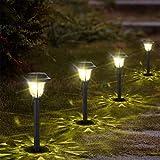 10er Solarleuchte Garten Solarlampe für Außen Wasserdicht LED Warmweiß Solar Wegeleuchte...