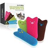 KATZOX© Premium Katzenminze Kissen [4er Set] - Verbessertes Konzept 2020 - Innovatives...
