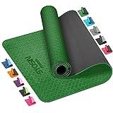 SYOSIN Yogamatte, TPE Gymnastikmatte rutschfest Fitnessmatte für Workout Umweltfreundlich...