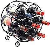 Weinregal, Weinregal stapelbar fr 7 Flaschen , stapelbar, horizontale Weinflaschenhalterung, Metall...