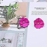 DYL&CDAI Ohrringe,Elegante weiße Blume Blatt Ohrringe für Frauen große kleine Perle Ohrstecker...