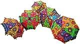 GANESHAM indische dekorative handgefertigte Mode Mehrfarbig Designer Baumwolle Strand Regenschirm...