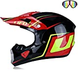 JohnnyLuLu Motocross-Integralhelm, Dot-zertifizierter Offroad-Motorrad-Dirtbike-Quad- / ATV- /...