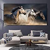 Pferdekunst Landschaft Leinwand Malerei Moderne Tier Poster Wandkunst Poster und Druckbild...