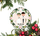 DKISEE Our First Christmas Ornament, Hochzeitsschmuck, Newylwed Ornament, Just Married Ornament,...
