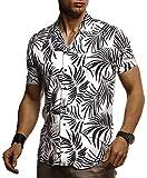 Leif Nelson Herren Hemd Kurzarm Oversize Kentkragen Stylisches Männer Hawaiihemd Stretch...