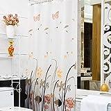 XINGYUNSHOP Wasserdichter Duschvorhang 3D, der bloß für Inneneinrichtungs-Badezimmer-Beige badet...