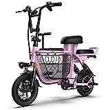 KT Mall Elektro-Bike für Erwachsene 12' 48V 8A Eltern-Kind 3 Sitzplätze Bergelektroroller mit...