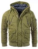 Gefütterte Herren Winterjacke der Marke Young & Rich Jacke Parka Bomberjacke Vintage, Grösse:L,...