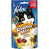 FELIX KnabberMix Katzen-Leckerlis mit Proteinen, Vitaminen & Omega 6, Katzen-Snacks ohne Zusatz...