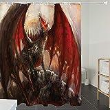 Derun Duschvorhänge, Textil Bad Vorhang aus Polyester, Anti-Schimmel, Muscheln Set, Krabben Spirale...