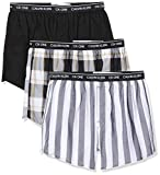 Calvin Klein Herren Slim Fit Boxer 3pk Boxershorts, Schwarz (Level Stripe/Black/Field Plaid Les),...