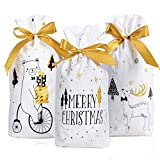 BHGT 3 Arten Weihnachten Geschenkbeutel Geschenktüten mit Kordelzug 30 Stück...